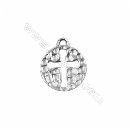 Jewelry findings sterling silver necklace pendant charms-D06S8  size 18x1.2mm hole 1.9mm 10pcs/pack