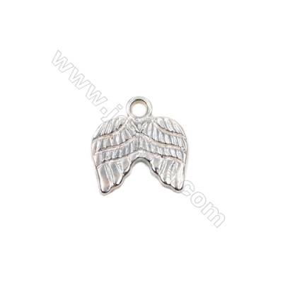 Jewelry findings sterling silver angel wing necklace pendant charms -D06S11 size 11x10x1.4mm hole 1.3mm 20pcs/pack