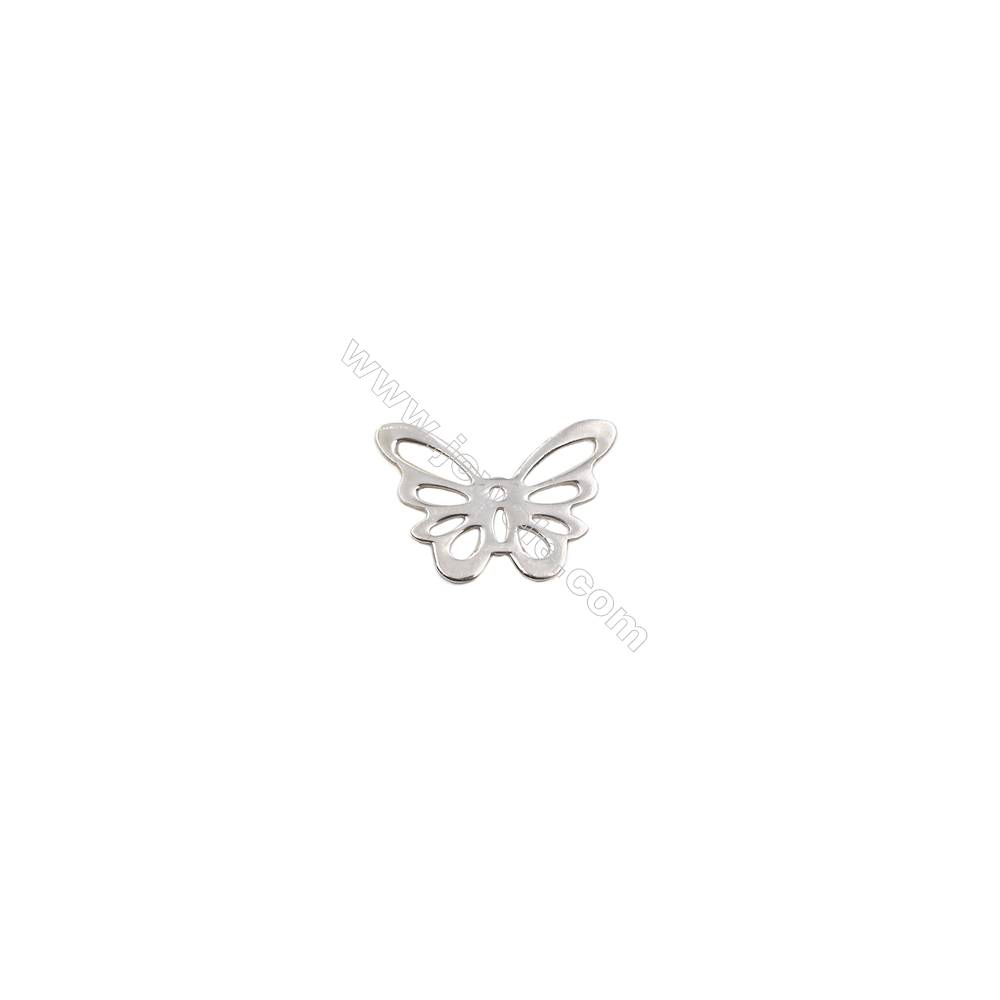 925 Sterling silver hollow butterfly jewelry charms-D06S12  size 18x13x0.6mm 20pcs/pack