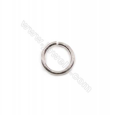 925 sterling silver open jump ring for necklace bracelet jewelry making 0.9x7mm 100pcs/pack