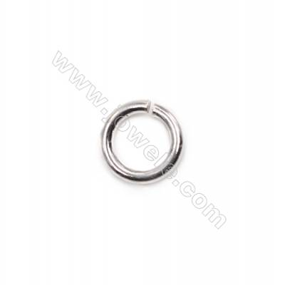 DIY necklace bracelet findings 925 sterling silver open jump ring 1.2x7mm 50pcs/pack