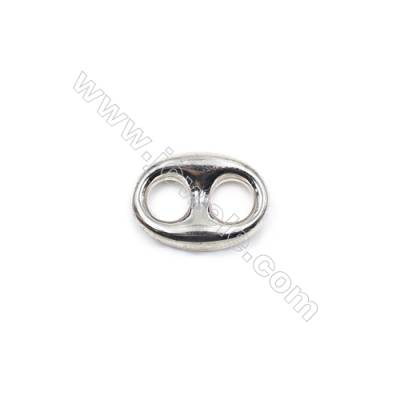 Coffe beans shape sterling silver beads spacer 17x12x4.5mm hole 5mm 10pcs/pack