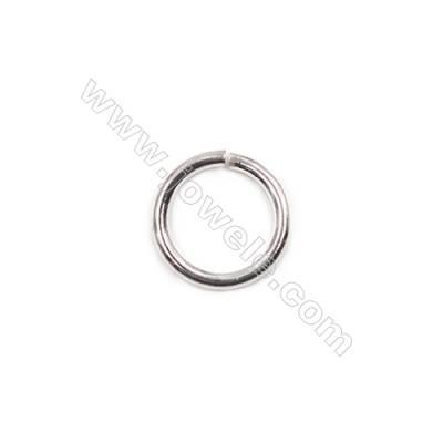 Wholesale fashion bracelet necklace findings 925 sterling silver open jump ring 1.3x10mm  40pcs/pack