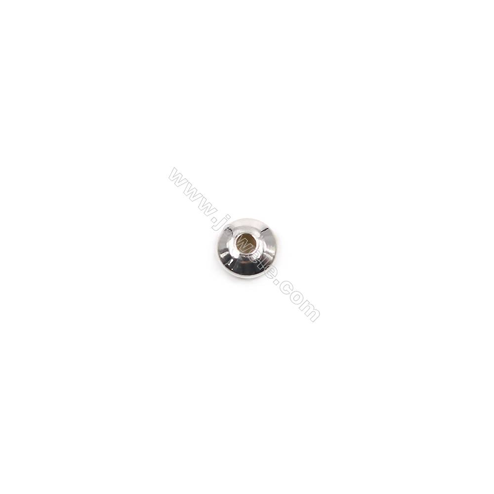 Abacus beads spacer sterling silver findings for necklace bracelet making-O07S3  size 6x3.0mm hole 1.4mm 100pcs/pack