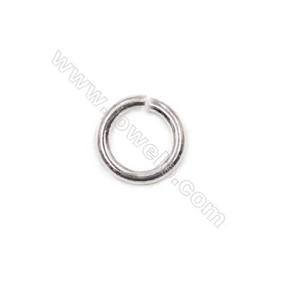 Wholesale fashion bracelet necklace findings 925 sterling silver open jump ring 1.5x9.2mm 30pcs/pack