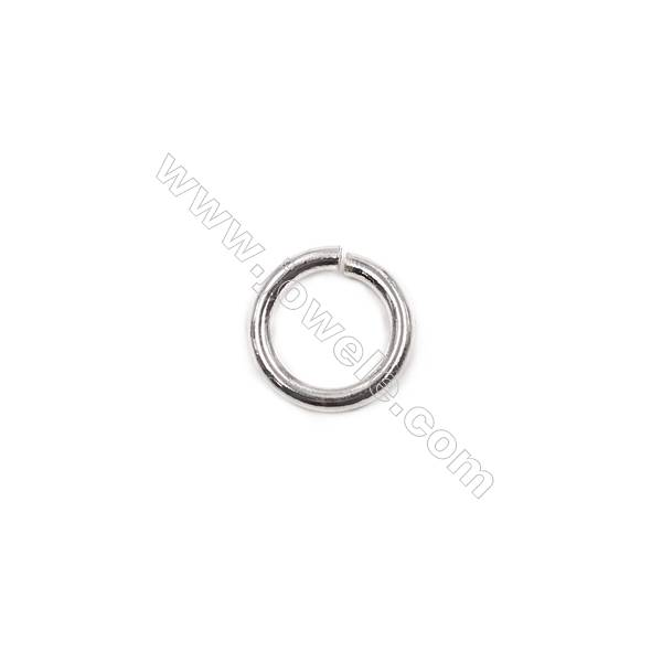 Wholesale jewelry accessories 925 sterling silver open jump ring 1.5x10mm  20pcs/pack