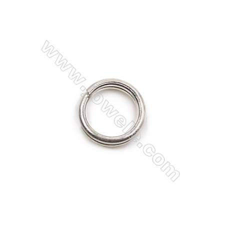 Jewelry findings 925 sterling silver double loops split ring 5x0.6mm  100pcs/pack