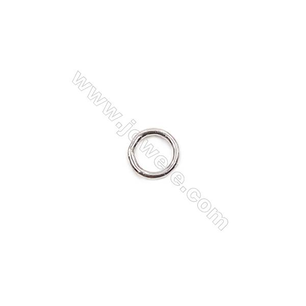 Wholesale 925 sterling silver closed jump ring for jewelry making  size 4x0.6mm 300pcs/pack