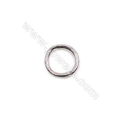 Fancy 925 sterling silver closed jump ring for jewelry making  size 5x0.7mm 100pcs/pack