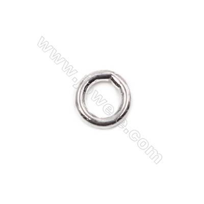 Popular 925 sterling silver closed jump ring jewelry findings 5x1mm 100pcs/pack