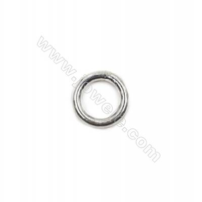High quality 925 sterling silver closed jump ring jewelry findings 8x1.4mm 30pcs/pack