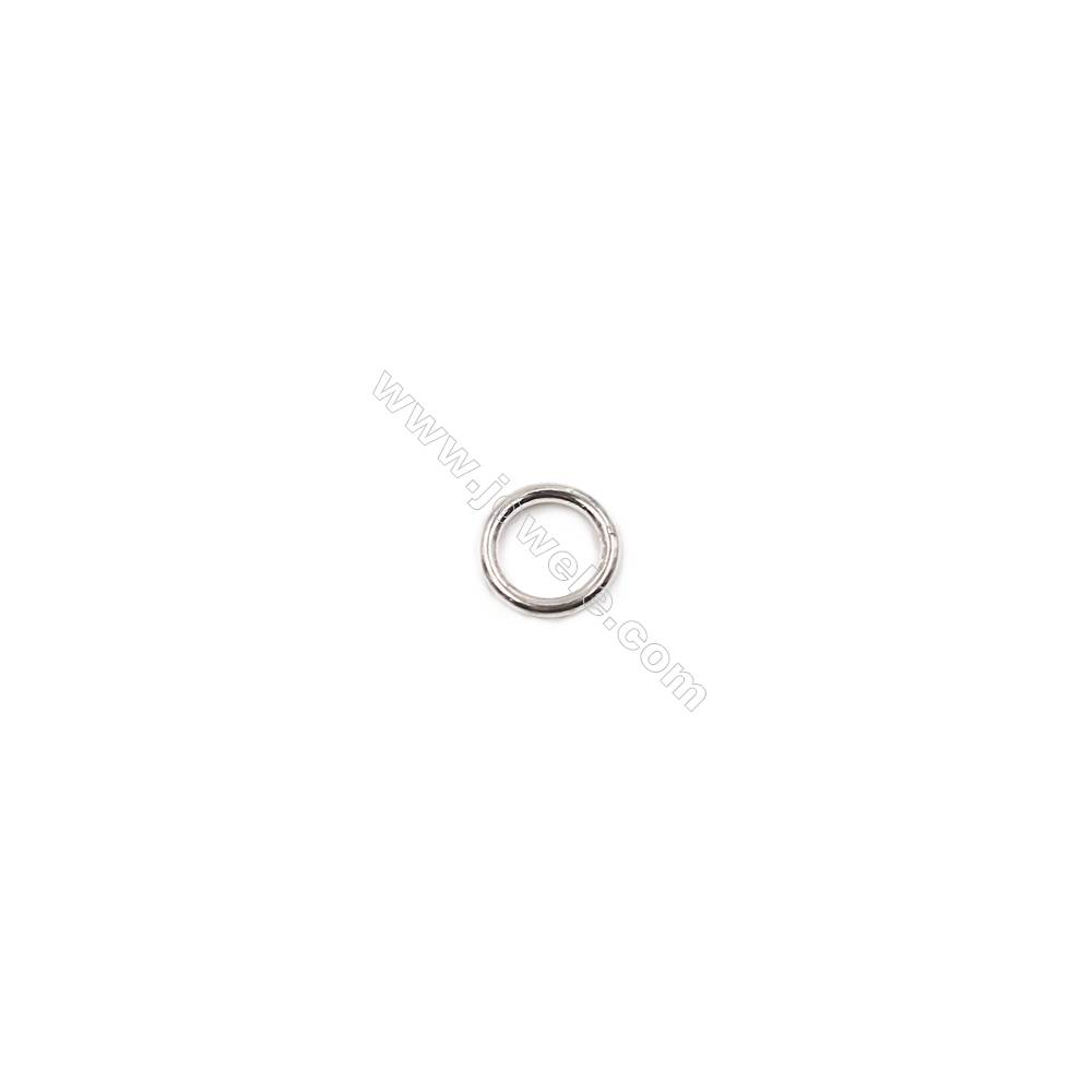 High quality 925 sterling silver closed jump ring jewelry findings 7x1mm 50pcs/pack