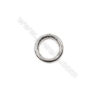 Jewelry findings 925 sterling silver closed jump ring  9x1.4mm 20pcs/pack
