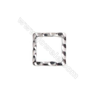 Sterling silver square links connectors chandelier findings hoops -K7S2 size 14 x14mm thick 0.6mm  30pcs/pack