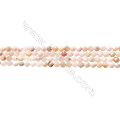 "Pink Opal Beads Strands  Round(Faceted)  Diameter about 3mm  Hole about 0.3mm  15~16""/strand"