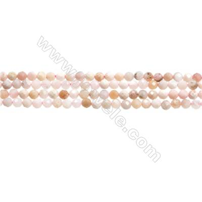 "Pink Opal Beads Strands  Round(Faceted)  Diameter about 4mm  Hole about 0.3mm  15~16""/strand"