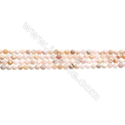 "Pink Opal Beads Strands  Round(Faceted)  Diameter about 5mm  Hole about 0.3mm  15~16""/strand"