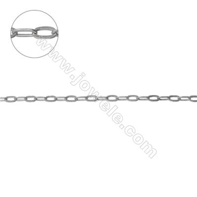 Sterling silver mother and son cross link chains cable chains  lead free & nickel free  2x4.7mm   2.5x4.5mm (F8S1)