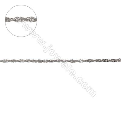Wholesale 925 sterling silver Singapore link chain fit for jewelry making-F8S3  size about 1.5x0.18mm