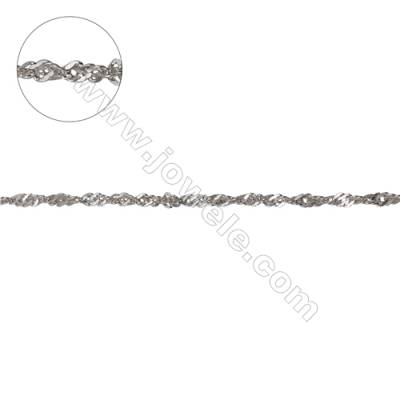 Wholesale 925 sterling silver Singapore link chain double chain-F8S2  size  about 2x1.6mm X 1meter