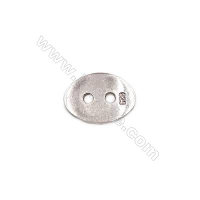 Sterling silver button connector -K7S8 size 13 x9mm  thick 1mm  hole 1.5mm  20pcs/pack