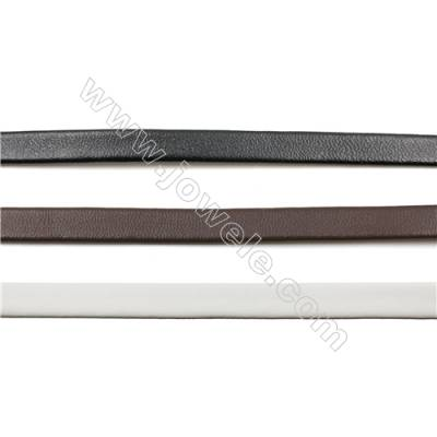 Multicolor Leather Cord, Real Leather Jewelry Cord, Width 6mm, 20mt/roll