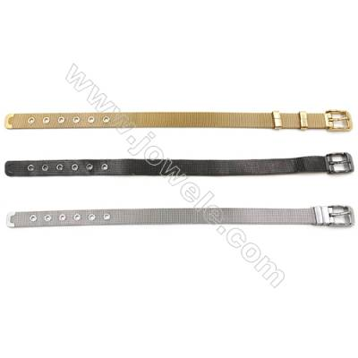 304 Stainless Steel Bracelets, Band Bracelets, Length 210mm, Width 10mm, x1