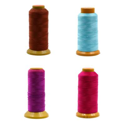 Round Multicolored Nylon Threads  Six shares thread  Wire Diameter 0.4mm  600 Meters / roll