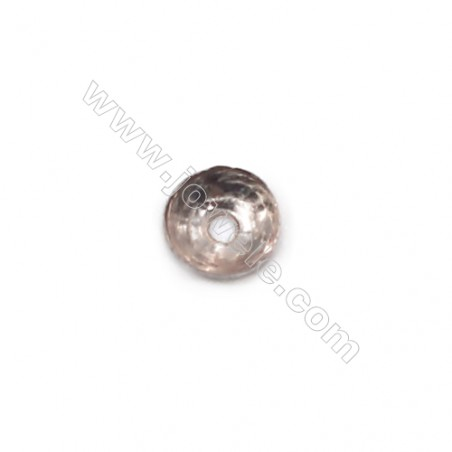 Sterling silver round bead cap 3 x0.9mm  hole 0.7mm 300pcs/pack