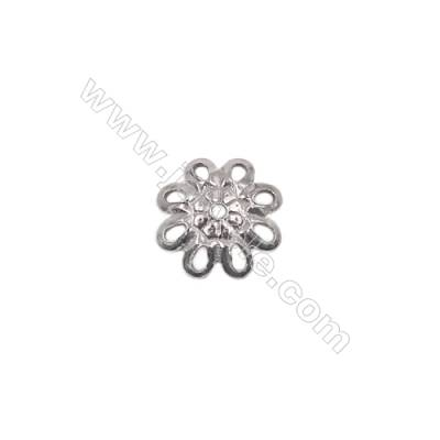 Sterling silver flower shape beads cap 8 x2mm hole 1mm 100pcs/pack