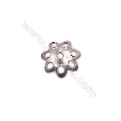 Sterling silver flower shape beads cap 5 x1.5mm hole 0.7mm 200pcs/pack