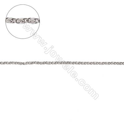 925 Sterling silver snail chain  lumachina chain-G8S3 size 3.6x1.5mm wire thick 0.3mm