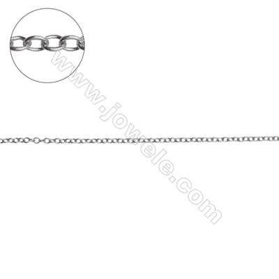 925 sterling silver cross chain rolo chain jewelry findings-H8S5 size 1.7x2.1mm thick 0.35mm x 1meter