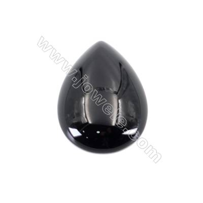 Natural Gemstone Cabochons  waterdrop teardrop  Black Agate  size 18.5x27mm x10pcs/pack