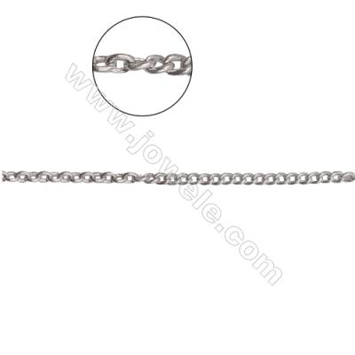 925 Sterling silver cross chain mix curb chain-G8S11 size: cross chain 1.6x2.0mm x0.3mm  curb chain: 1.1mm width