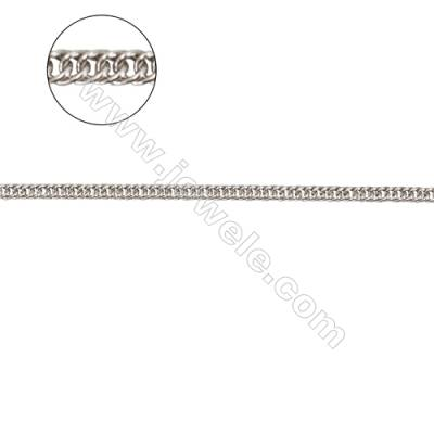 925 sterling silver curb chain jewelry findings-G8S6 size: width 1.4mm  chain thickness 0.35mm x 1metre