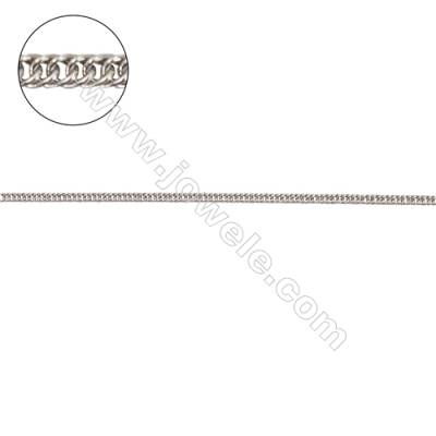 Sterling silver jewelry findings curb chain-G8S7 chain width 1.2mm thick about 0.6mm x 1metre
