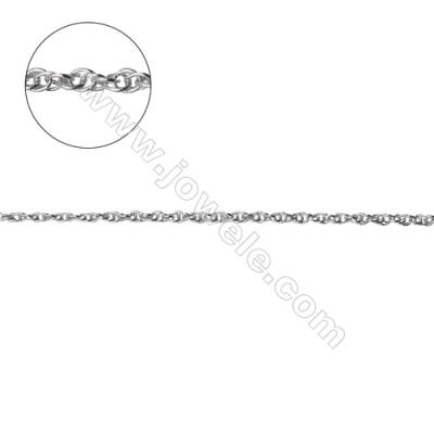 925 sterling silver loose double rolo chain jewelry findings-G8S8 size: 1.25x1.7mm thickness 0.25mm x 1metre