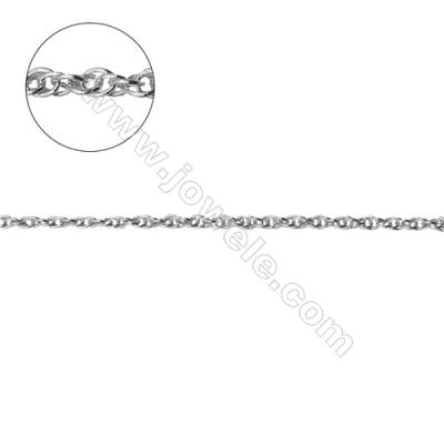 925 sterling silver loose double rolo chain jewelry findings-G8S9 size: 1.55x2.1mm thickness 0.3mm x 1metre
