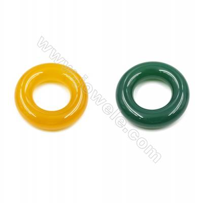 Natural Agate Donuts Pendants  Diameter 40mm  Hole 20mm  4pcs/pack