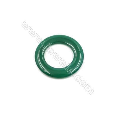 Green Agate Donuts Pendants  Diameter 50mm  Hole 30mm  3pcs/pack