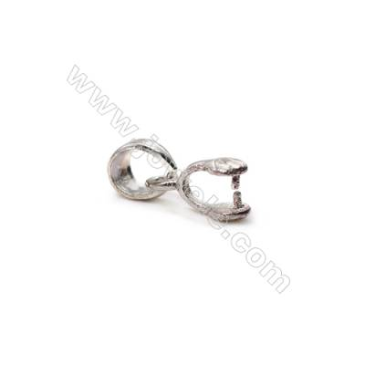 925 sterling silver pinch bail pendant findings-N7S2  total length 12mm  hole 4.5x5mm pin 0.6mm 20pcs/pack
