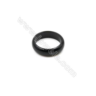 Black Agate Ring, Diameter 22mm, Inside diameter 17mm, 15pcs/pack