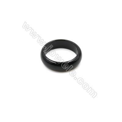 Black Agate Ring, Diameter 22mm, Inside diameter 17mm, 15pcs/pack