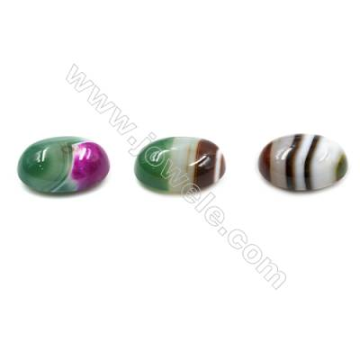 Natural Agate Cabochons  Striped Agate  Size 20x30mm  8pcs/pack