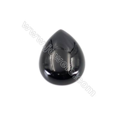 Natural Gemstone Cabochons  Black Agate  Teardrop   size 15x20mm x20pcs/pack