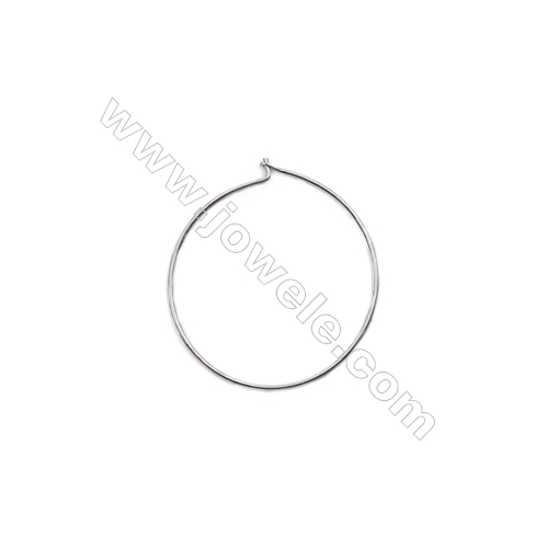 925 sterling silver hoop earring setting wholesale-C7S9  size 26x0.7mm  20pcs/pack