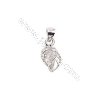 925 sterling silver pinch bail pendant findings-N7S3  size 18mm  hole 4.5x6mm pin 0.9mm 10pcs/pack