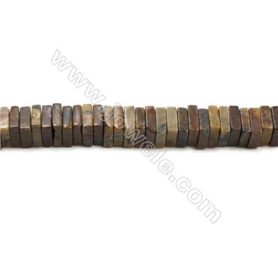 """Square Leopard Skin Stone Bead Strands  Size 10x10mm  Thick 3mm  Hole 1mm  15~16""""/strand"""