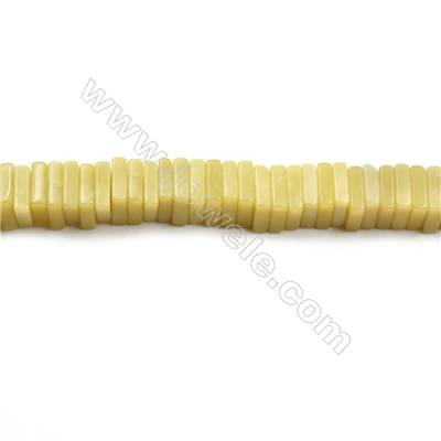 """Natural Olive Jade Bead Strands  Square  Size 10x10mm  Thick 3mm  Hole 0.8mm  15~16""""x1strand"""